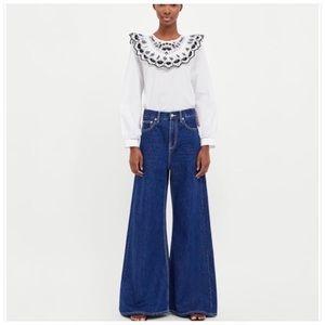 Zara Vintage High Waist Flare Jeans